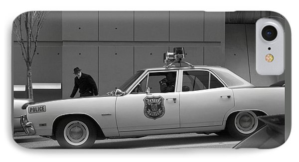 Mayberry Meets Seattle - Vintage Police Cruiser IPhone Case by Jane Eleanor Nicholas