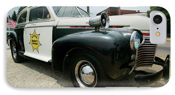 Mayberry Sheriffs Department Police Car IPhone Case