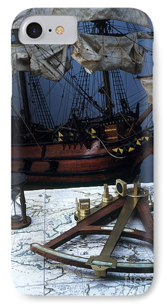 Mayflower Model With Quadrant Phone Case by Fred Maroon