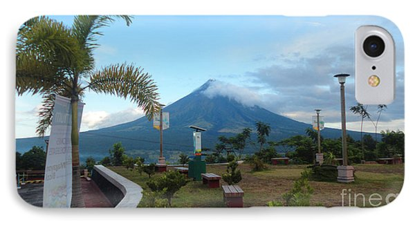 Mayon At Lignon Hill Phone Case by Manuel Cadag