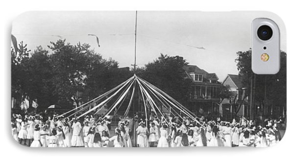 Maypole Dance IPhone Case by Underwood Archives
