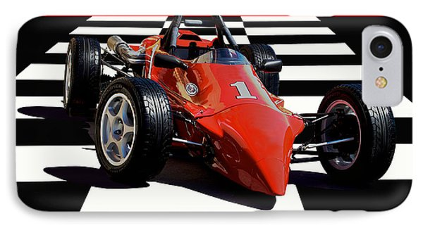 Mazda - Indy Training Car IPhone Case by Dave Koontz