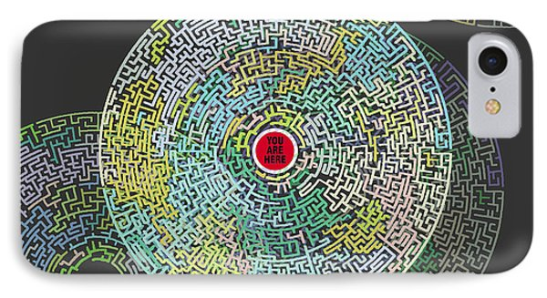 Maze You Cant Get There From Here IPhone Case by Tony Rubino