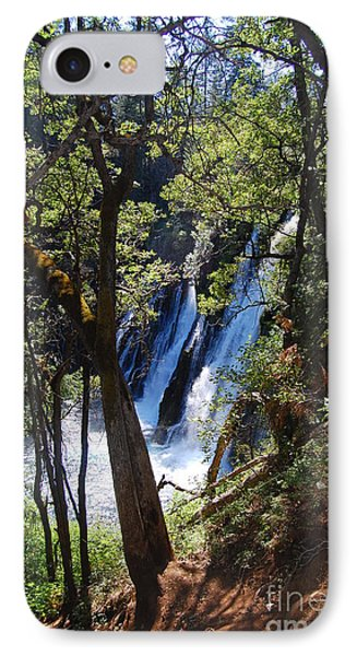 IPhone Case featuring the photograph Mcarthur-burney Falls Side View by Debra Thompson
