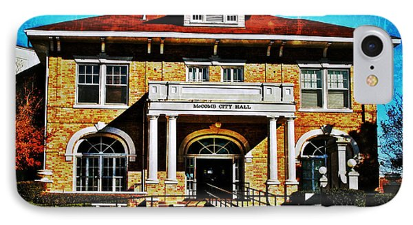 IPhone Case featuring the photograph Mccomb City Hall by Jim Albritton