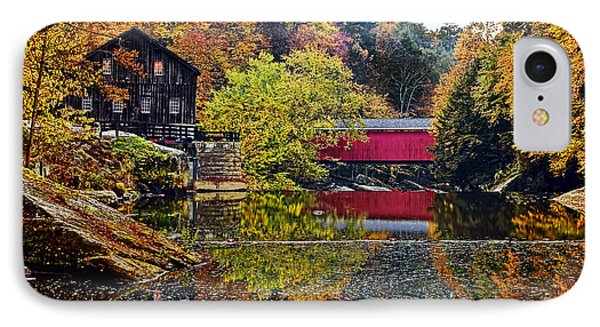 Mcconnell's Mill And Covered Bridge Phone Case by Marcia Colelli