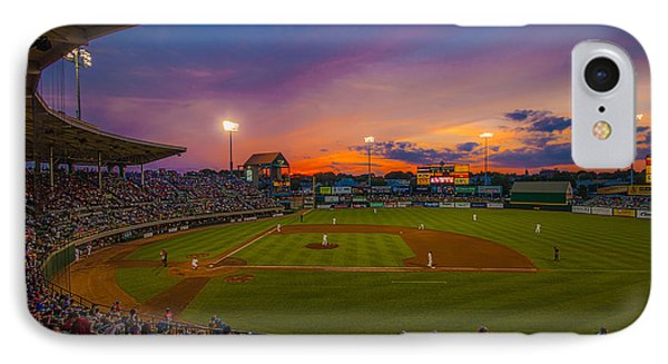 Mccoy Stadium Sunset IPhone Case by Tom Gort