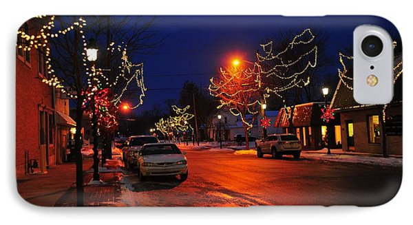 Clare Michigan Christmas IPhone Case by Terri Gostola