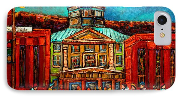 Mcgill Gates Montreal IPhone Case by Carole Spandau