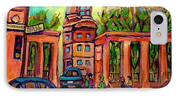 Mcgill University Roddick Gates Montreal Phone Case by Carole Spandau