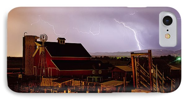 Mcintosh Farm Lightning Thunderstorm Phone Case by James BO  Insogna