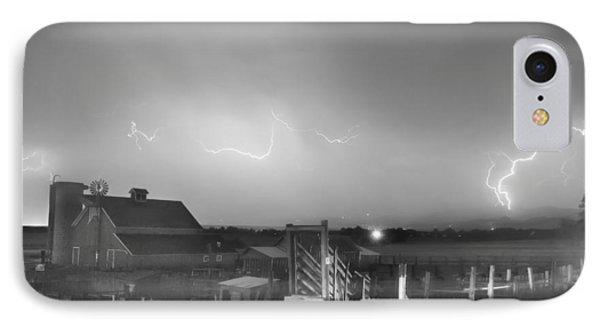 Mcintosh Farm Lightning Thunderstorm View Bw Phone Case by James BO  Insogna