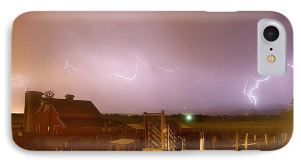Mcintosh Farm Lightning Thunderstorm View Phone Case by James BO  Insogna