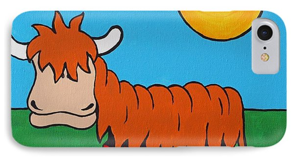 IPhone Case featuring the painting Mcmooo by Sheep McTavish