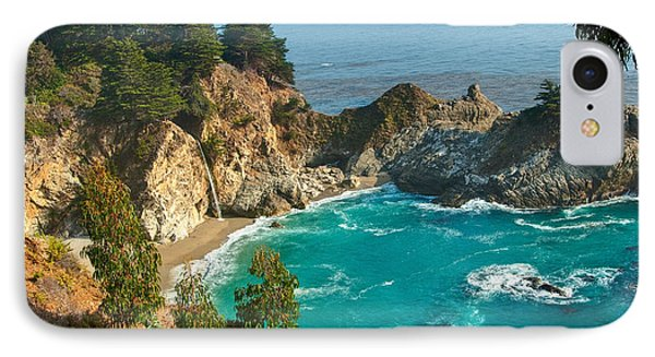 Mcway Falls Along The Big Sur Coast. Phone Case by Jamie Pham