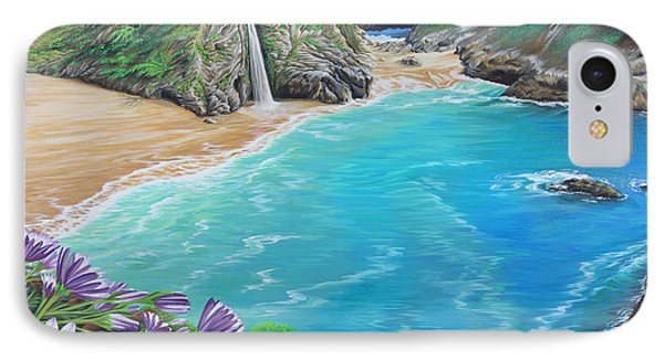 IPhone Case featuring the painting Mcway Falls by Jane Girardot