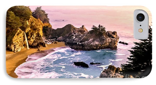Mcway Falls Pacific Coast IPhone Case by Bob and Nadine Johnston