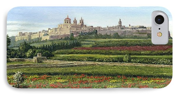 Mdina Poppies Malta IPhone Case by Richard Harpum