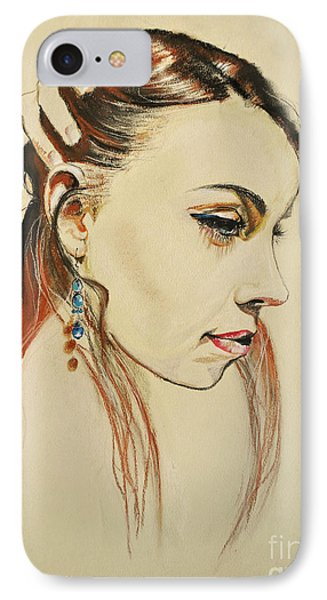 IPhone Case featuring the drawing Me by Maja Sokolowska