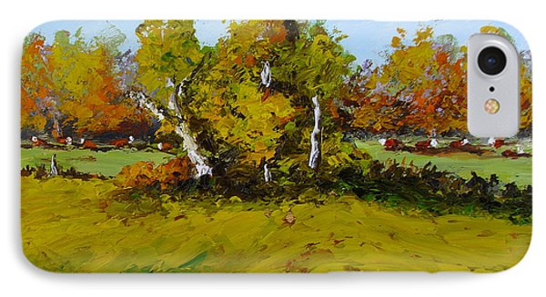 IPhone Case featuring the painting Meadow In Autumn by Fred Wilson