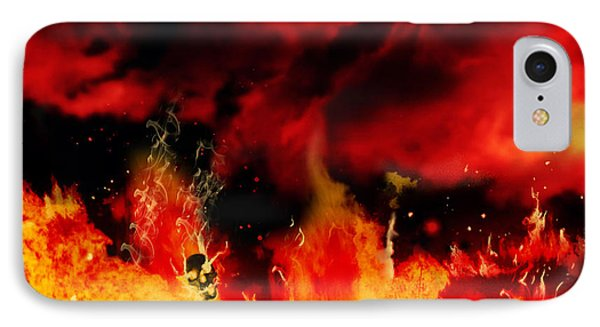 IPhone Case featuring the painting Meanwhile In Tartarus by Persephone Artworks