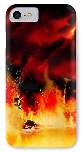 Meanwhile In Tartarus IPhone Case by Persephone Artworks