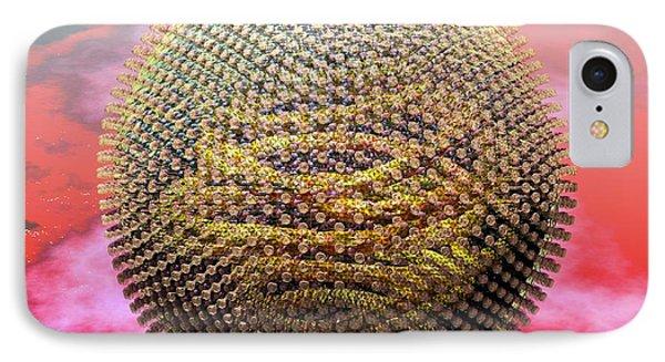 Measles Virus Particle, Artwork IPhone Case