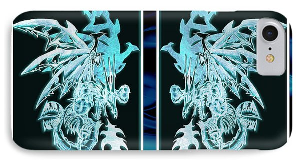 Mech Dragons Diamond Ice Crystals IPhone Case by Shawn Dall