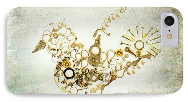 Mechanical - Bird Phone Case by Fran Riley