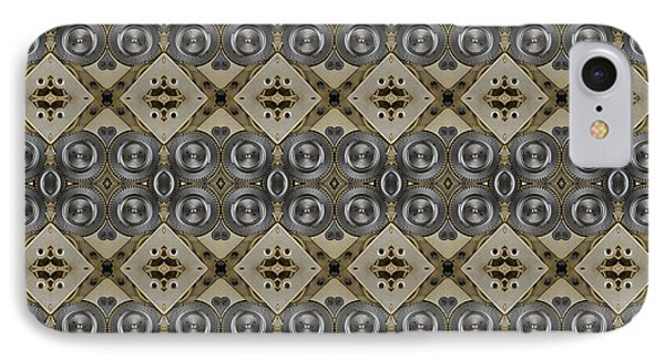 Mechanical Gears Pattern Background IPhone Case by Nenad Cerovic