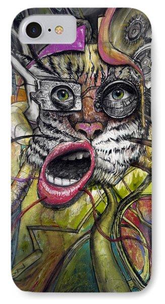 Mechanical Tiger Girl IPhone Case by Frank Robert Dixon