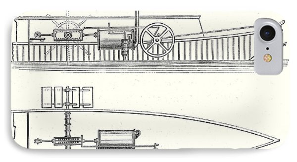 Mechanism Of Marquis De Jouffreys Paddle Steamers Engine IPhone Case