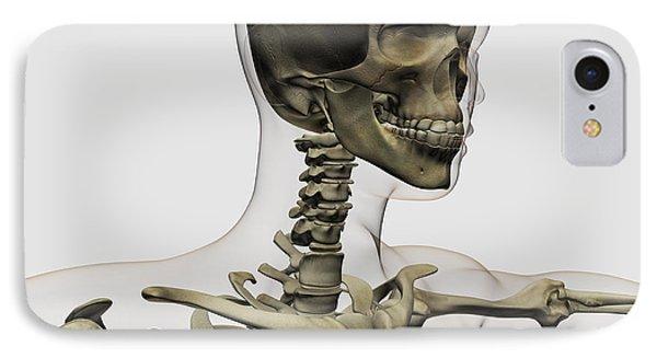 Medical Illustration Of A Womans Skull Phone Case by Stocktrek Images