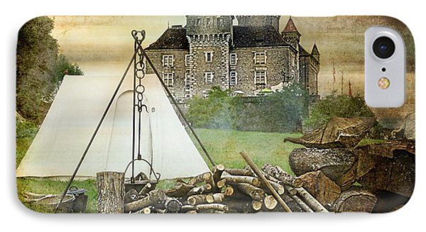 Medieval Castle Of Montrottier - France Phone Case by Barbara Orenya