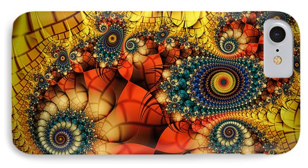 Medieval Ceremonial-fractal Art IPhone Case by Karin Kuhlmann