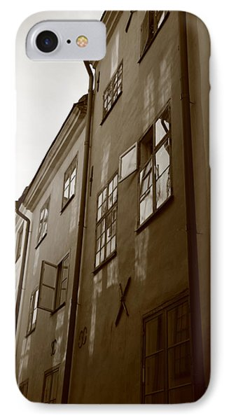 Medieval Houses - Sepia IPhone Case