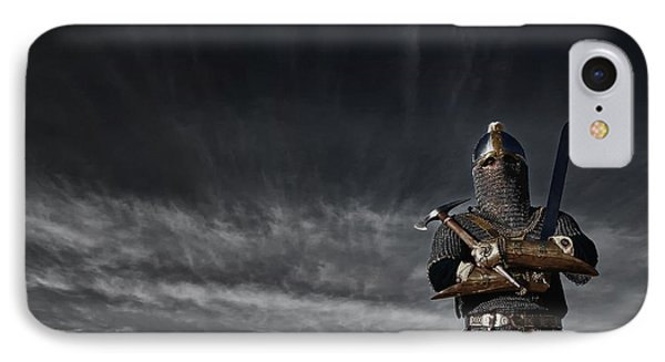 Medieval Knight With Sword And Axe IPhone 7 Case by Holly Martin