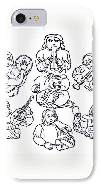 Medieval Musicians IPhone Case by Phil Cardamone