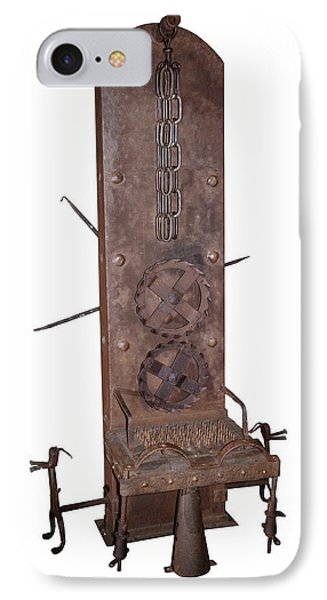 Medieval Rotating Torture Chair IPhone Case by David Parker