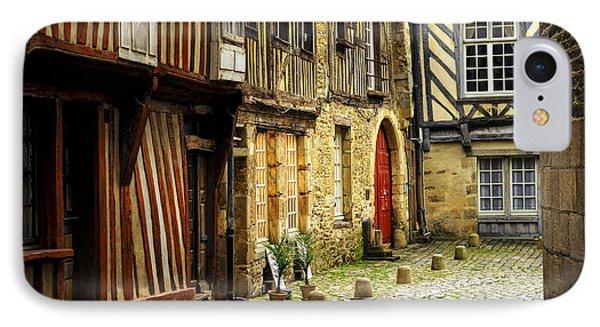 Medieval Street In Rennes IPhone Case by Elena Elisseeva