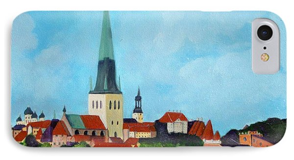 Medieval Tallinn IPhone Case by Laurie Morgan