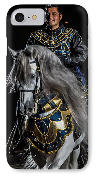 Medieval Times Knight And Horse Phone Case by Gene Sherrill
