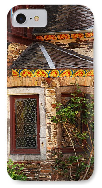 Medieval Window And Rose Bush In Germany Phone Case by Greg Matchick