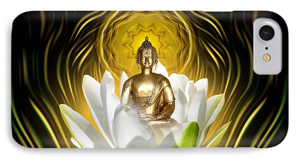 Meditating With Buddha IPhone Case by Giada Rossi