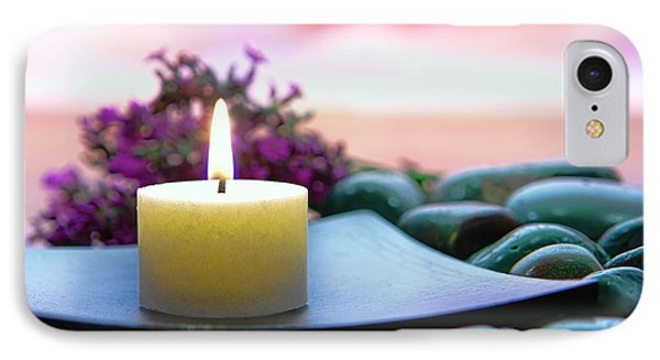Meditation Candle IPhone Case by Olivier Le Queinec