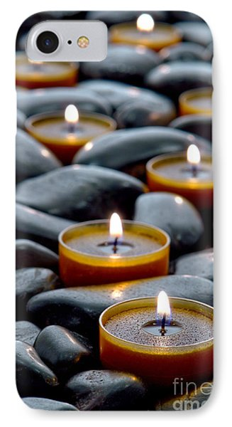 Meditation Candles Phone Case by Olivier Le Queinec