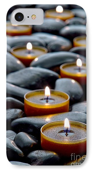 Meditation Candles IPhone Case by Olivier Le Queinec