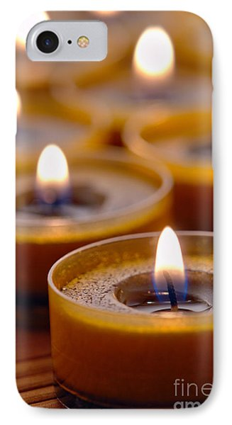 Meditation Candles Path Phone Case by Olivier Le Queinec