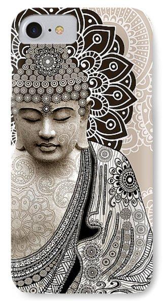 Meditation Mehndi - Paisley Buddha Artwork - Copyrighted Phone Case by Christopher Beikmann