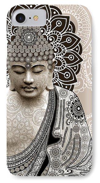 Meditation Mehndi - Paisley Buddha Artwork - Copyrighted IPhone Case